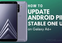 download samsung galaxy a6+ android pie update