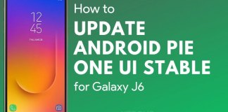 Samsung Galaxy J6 Android Pie Update