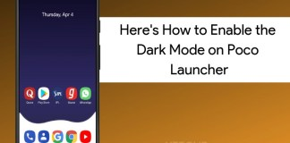 Enable Dark Mode in Poco Launcher