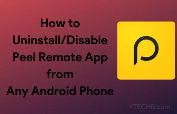 uninstall peel remote app