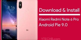 Xiaomi Redmi Note 6 Pro Android Pie Update