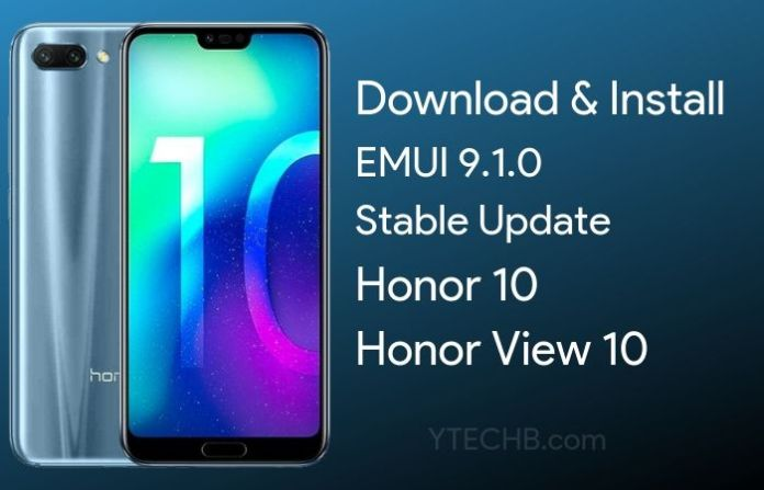 Download Honor View 10 EMUI 9.1 Update