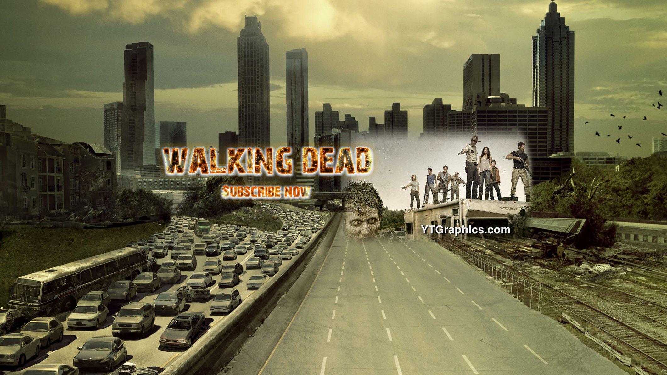 Walking Dead Youtube Channel Art Banner YouTube Channel Art Banners