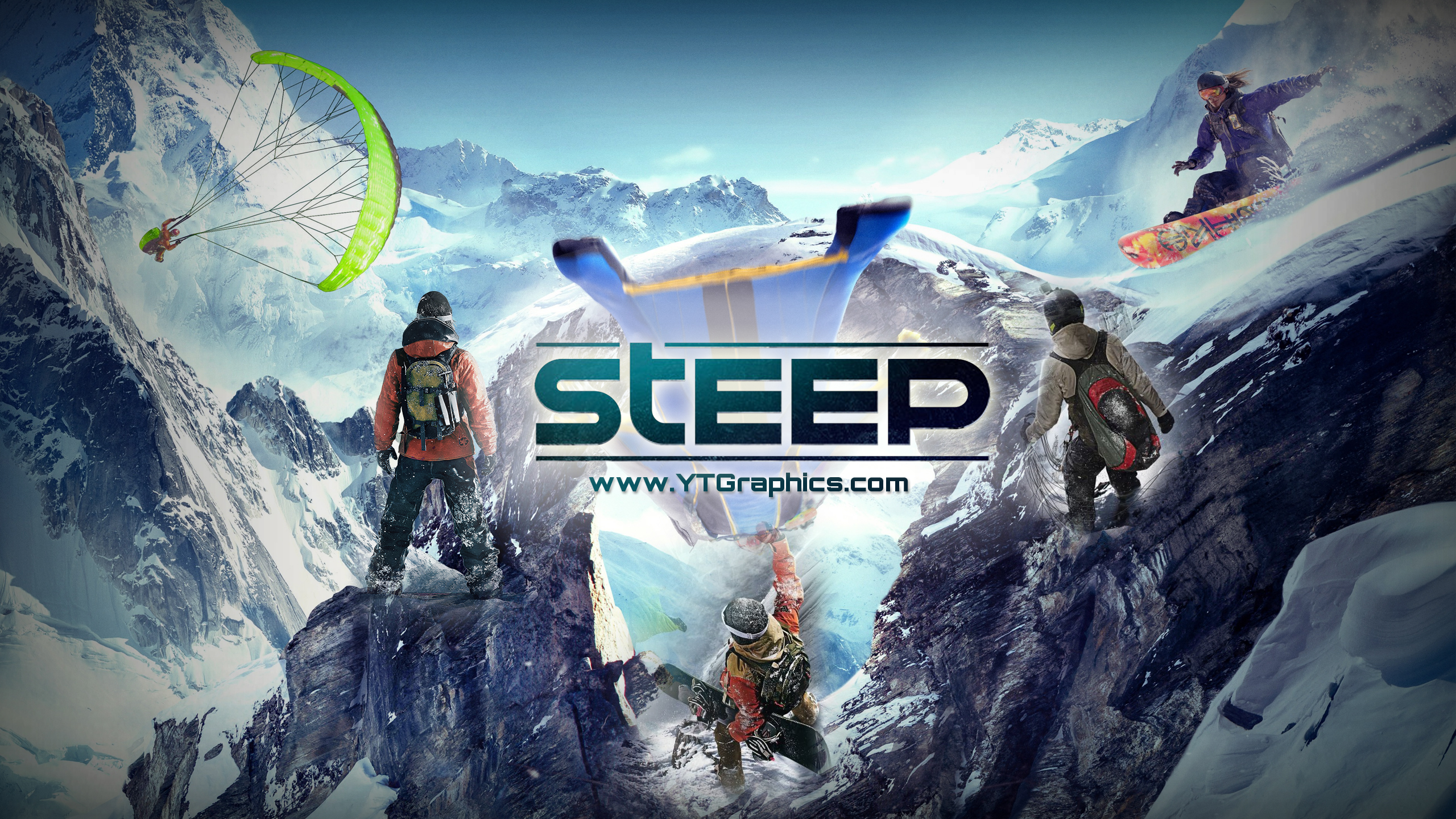 Steep YouTube Channel Art Banners