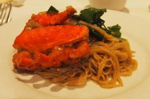 Plate of Lobster Noodles at Mandarin Kitchen