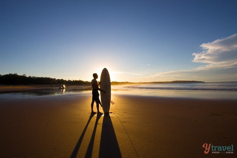 Sunset silhouette at Agnes Water Beach - Queensland, Australia