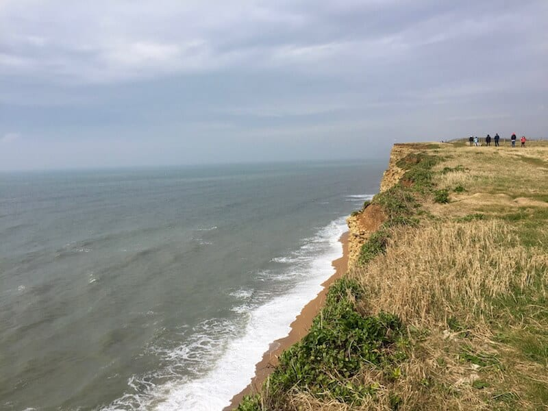 Walking to Burton Bradstock in South West England