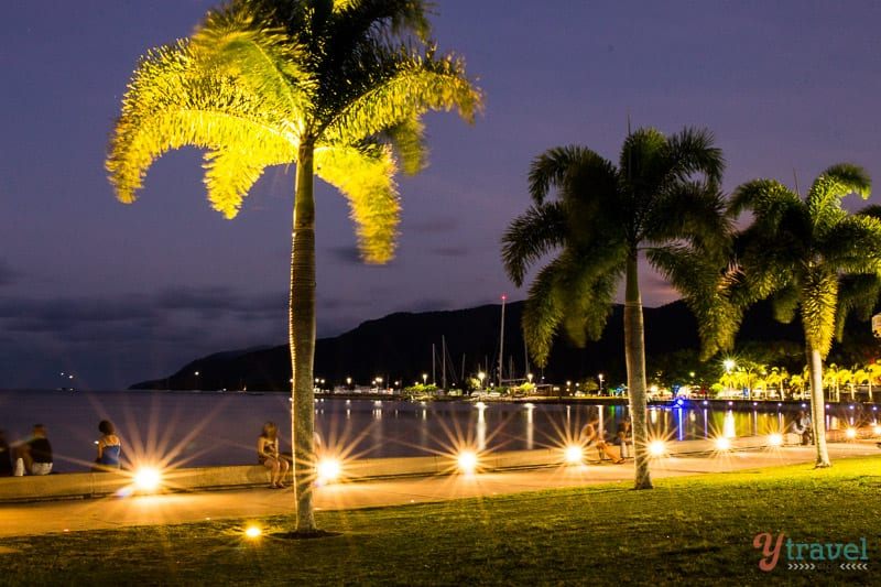 Cairns Esplanade at twilight - Queensland, Australia