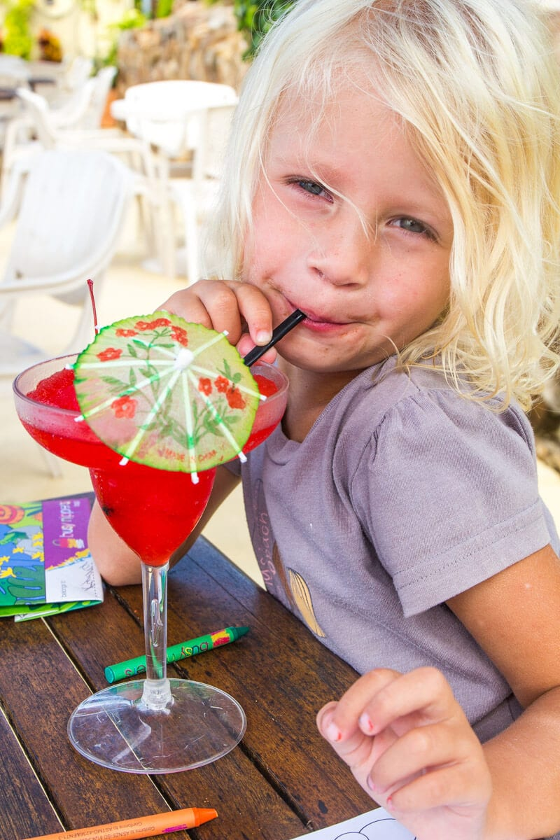 Mocktail at Eimeo beach hotel in Mackay, Queensland