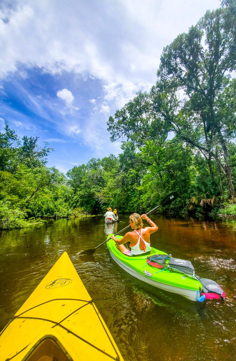 Kayak the Slave Canal, Monticelloa, Florida