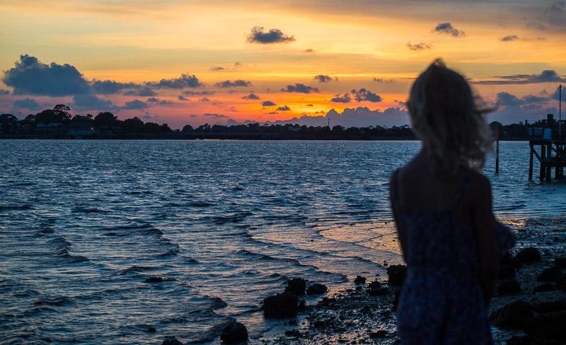 Cedar Key, Florida sunset