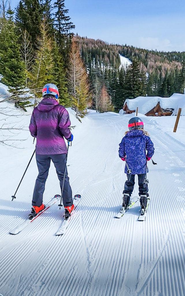 Skiing with Savannah at Schweitzer