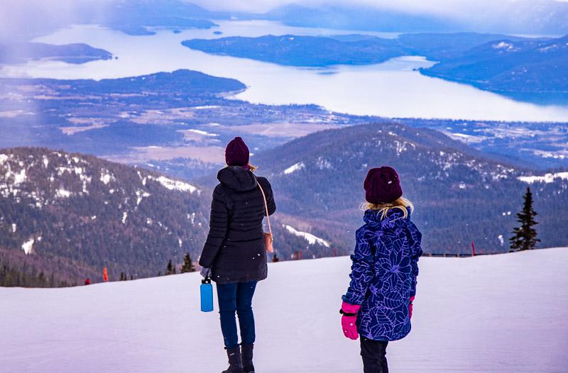 Views from top of Schweitzer Ski Resort