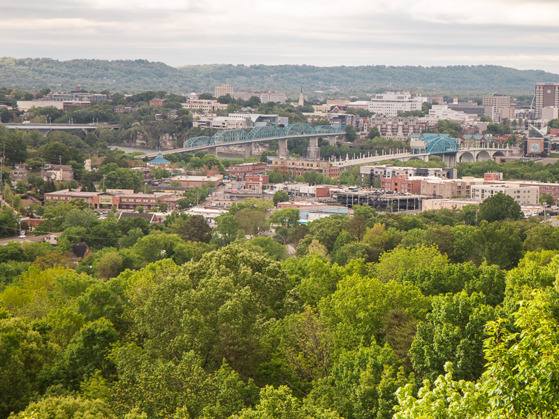 Stringers PArk Downtown Chattanooga views
