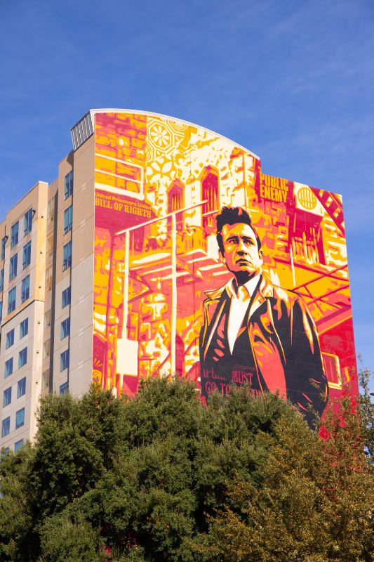 Johnny Cash mural Sacramento