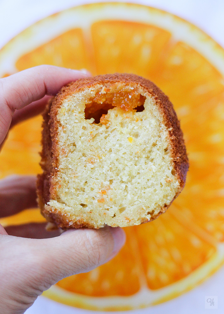 Bundt de mermelada de naranja