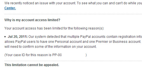 How my Paypal account got closed down - YugaTech | Philippines Tech