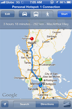 Google Maps now supports Driving Directions YugaTech Philippines