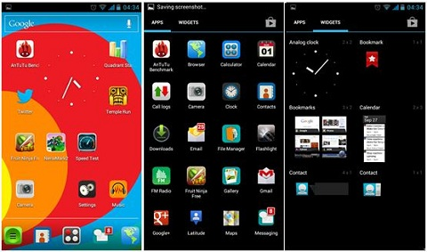 Android ICS UI