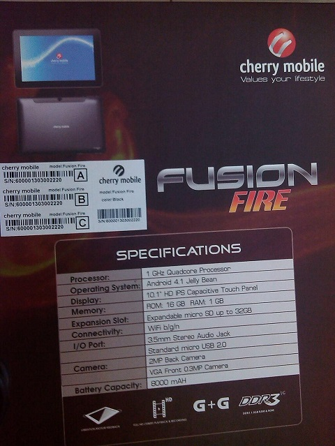 cherry mobile fusion fire