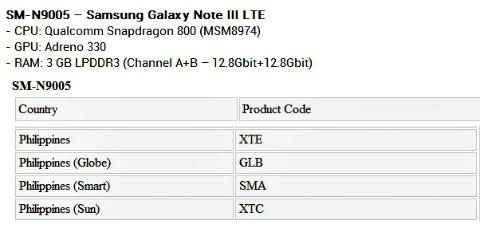 galaxy note 3_list