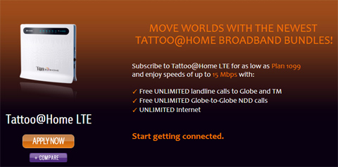 Globe offers 15Mbps LTE Home plan for Php4 999 YugaTech