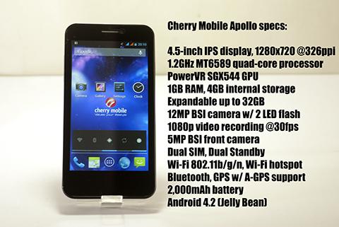 Cherry Mobile Apollo Specs