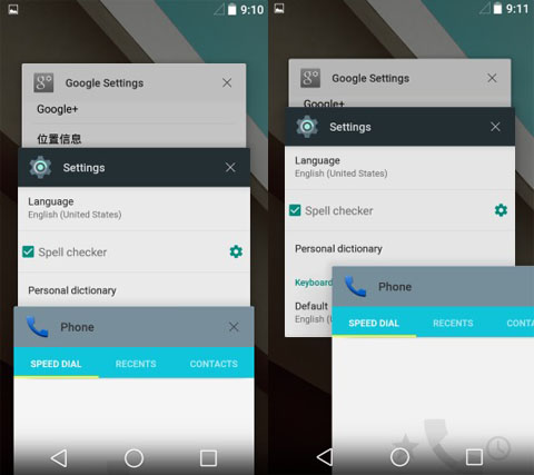 Recent Apps - Android L