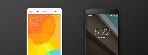 """Left: MIUI 6   Right: Android """"L"""""""