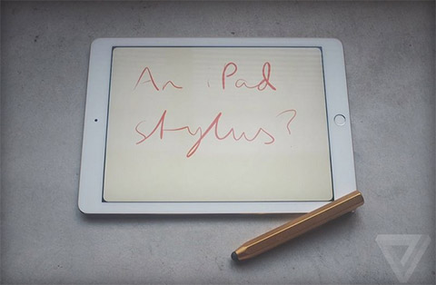 Is Apple on its way to releasing a stylus for its 12.9-inch tablet? (Photo: The Verge)