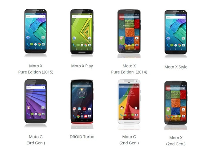 motorola android. a few days ago, htc released list of their smartphones that will get android 6.0 marshmallow, now its motorola\u0027s turn to announce which devices motorola