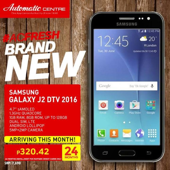 Samsung Galaxy J2 DTV 2016
