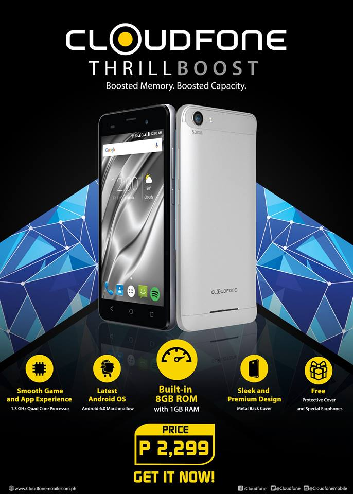 Cloudfone Thrill Boost now official - YugaTech | Philippines