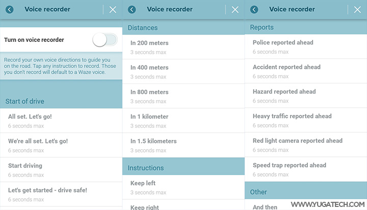 Waze allows record and use of own voice for navigation - YugaTech