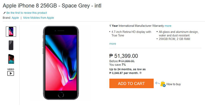 Apple iPhone 8, 8 Plus spotted at Lazada - YugaTech