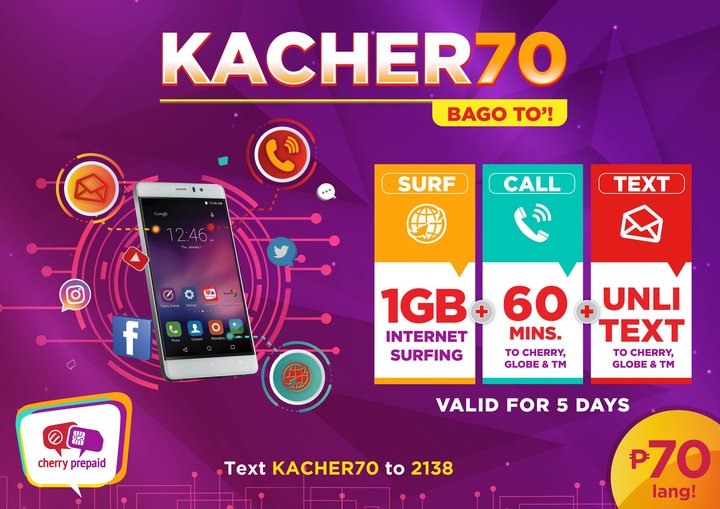 Cherry Prepaid now offers Tri-Net Data Combo promo for Php70