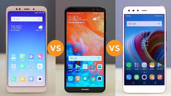 Specs Comparison: Xiaomi Redmi 5 Plus vs Huawei Nova 2i vs
