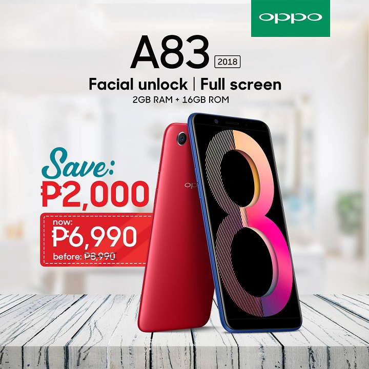 OPPO cuts the price of the A83 (2GB) - YugaTech | Philippines Tech