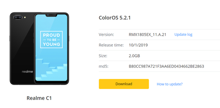 Realme C1 ColorOS 5 2 1 update now live - YugaTech | Philippines