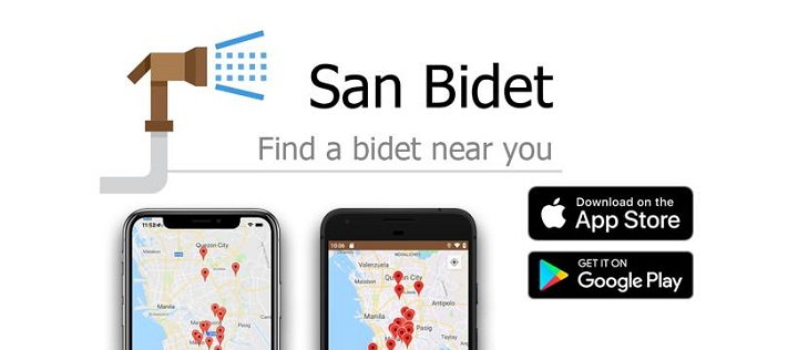 San Bidet: a mobile app for your call of nature urges - YugaTech