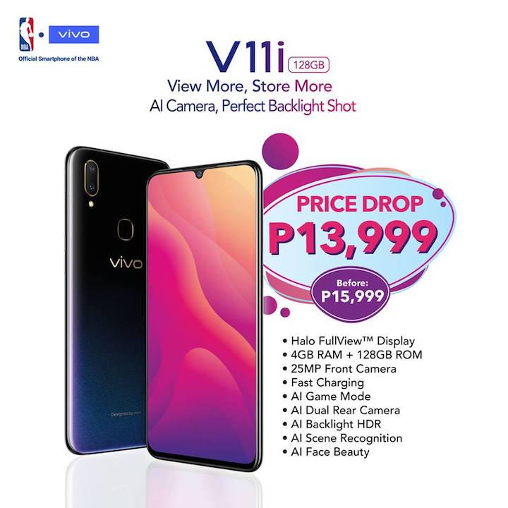 Vivo V11i gets a price drop - YugaTech | Philippines Tech