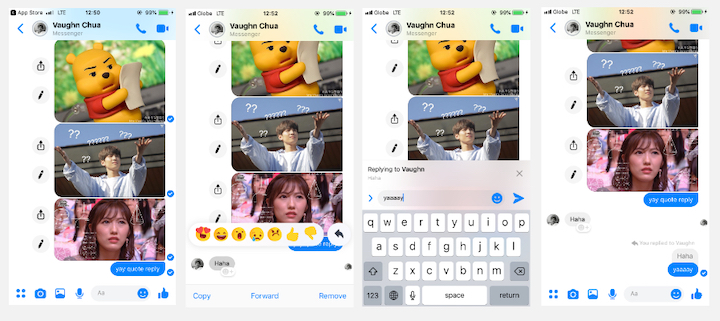 Facebook Messenger rolls out Quote Reply update - YugaTech