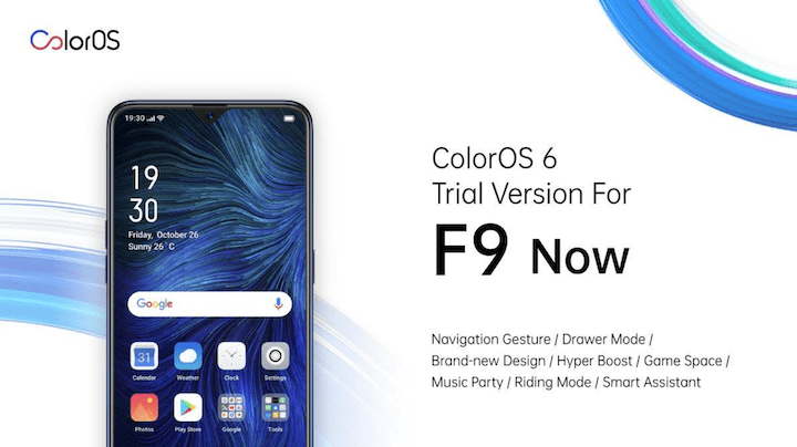 OPPO rolls out ColorOS 6 Trial Version upgrade for F9