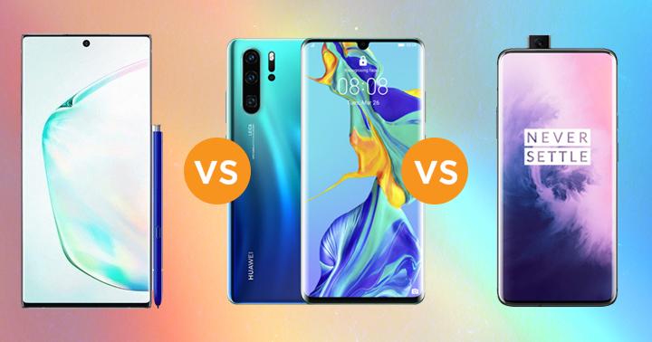 Samsung Galaxy Note10+ vs OnePlus 7 Pro vs Huawei P30 Pro