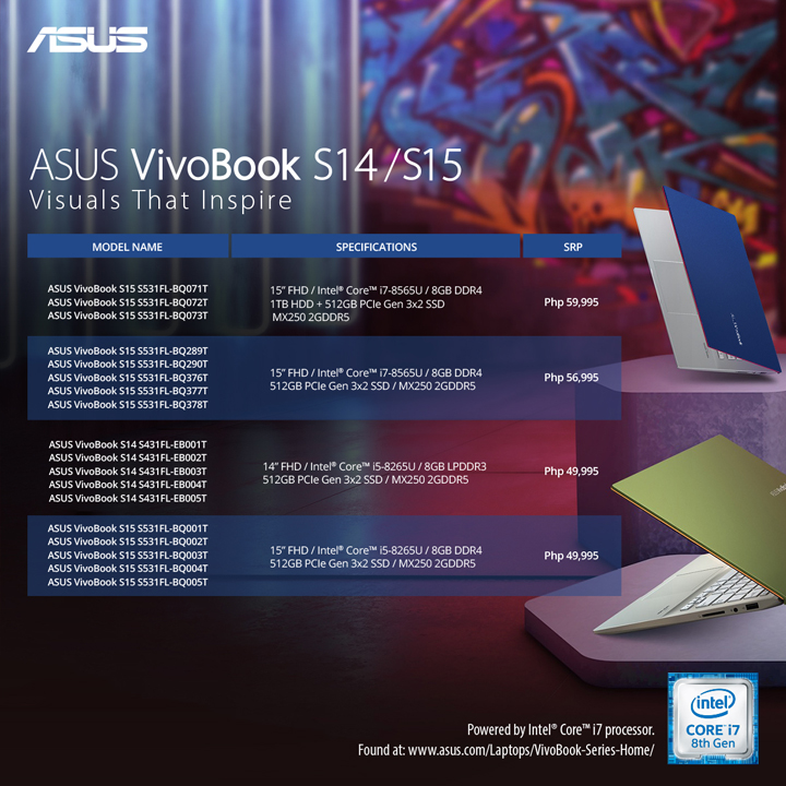 ASUS VivoBook S14, S15 laptops now available in the