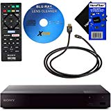 Sony BDPS6700 4K-Upscaling Blu-ray DVD Player with Super Wi-Fi + Remote Control, Bundled with Xtech Blu-ray Maintenance Kit + Xtech High-Speed HDMI Cable with Ethernet + HeroFiber Cleaning Cloth