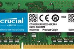 Crucial 8GB Single DDR3/DDR3L 1600 MT/S (PC3-12800) Unbuffered SODIMM 204-Pin Memory – CT102464BF160B
