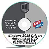 Windows Driver Software 2018 Automatic Easy Install Updater DVD Disc for Windows 10, 8, 7, Vista, & XP | Full Computers Support Dell HP Toshiba Sony Asus Lenovo Gateway Acer etc.