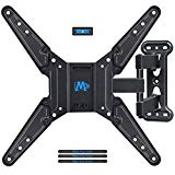 Mounting Dream Full Motion TV Wall Mounts Bracket with Perfect Center Design for 26-55 Inch LED , LCD , OLED Flat Screen TV , Mount with Swivel Articulating Arm , up to VESA 400x400mm MD2413-MX