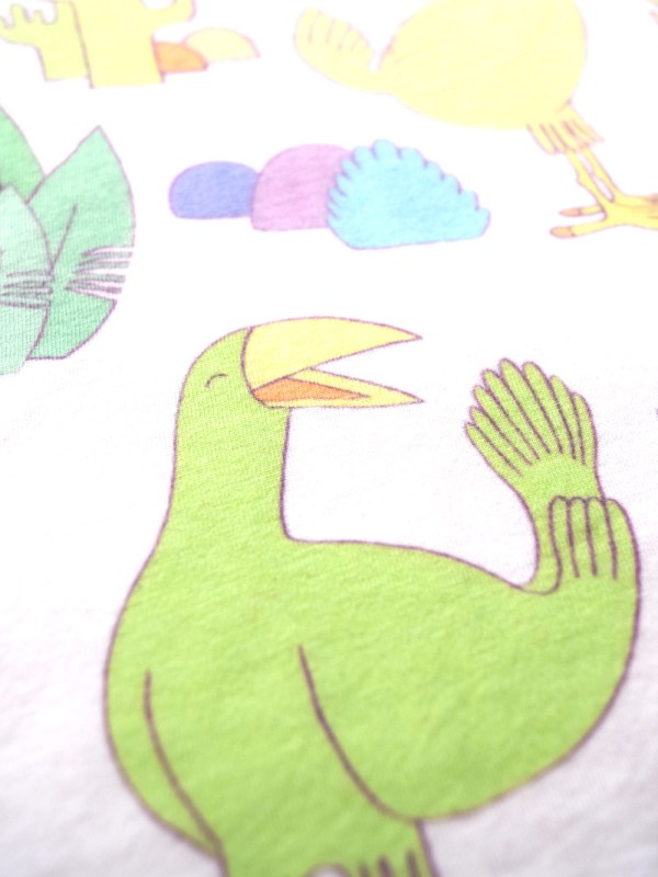 All over pattern T-shirt Birds and Cacti T-shirt by YUK FUN